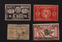 Patriotic Vintage match box labels CHINA or JAPAN   #300